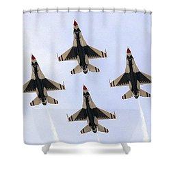 Thunderbirds Away Shower Curtain