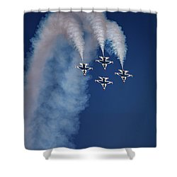 Shower Curtain featuring the photograph Thunderbirds Diamond Formation by Rick Berk