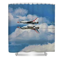 Thunderbirds Inverted Shower Curtain