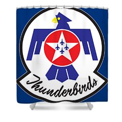 Thunderbirds Logo Shower Curtain