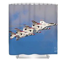 Thunderbirds Stacked 2 Shower Curtain
