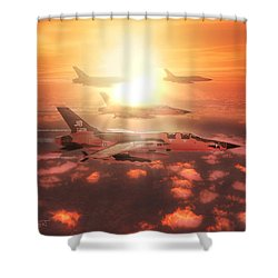 Thunderchief Dawn Shower Curtain