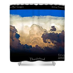 Thunderhead Cloud Color Poster Print Shower Curtain by James BO  Insogna