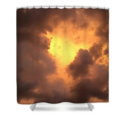 Thunderous Sunset Shower Curtain