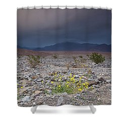 Thunderstorm Over Death Valley National Park Shower Curtain