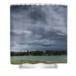 Thunderstorm Over Indian Pond Shower Curtain