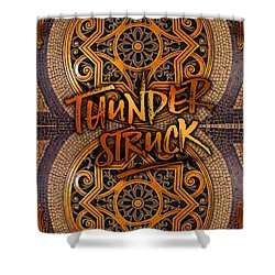 Thunderstruck Palais Garnier Opera Mosaic Floor Paris France Shower Curtain