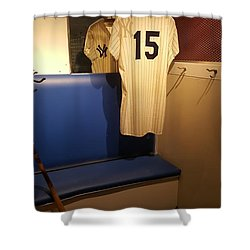 New York Yankee Captian Thurman Munson 15 Locker Shower Curtain