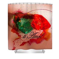 Ti Amo Too Shower Curtain