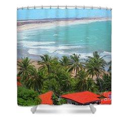 Tiabia, Brazil Beach Shower Curtain