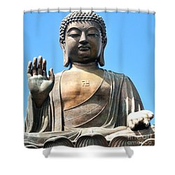 Tian Tan Buddha Shower Curtain by Joe  Ng
