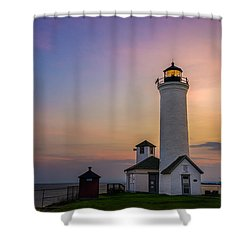 Shower Curtain featuring the photograph Tibbets Point Light by Mark Papke