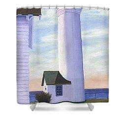 Tibbett's Point Shower Curtain by Lynne Reichhart