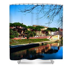 Tiber Island Shower Curtain