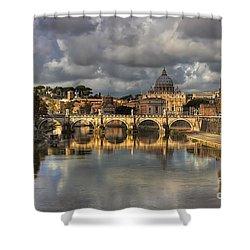 Tiber River Shower Curtain