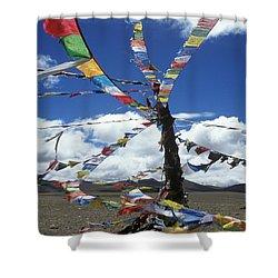 Tibet_304-8 Shower Curtain