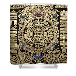 Tibetan Astrological Diagram Shower Curtain