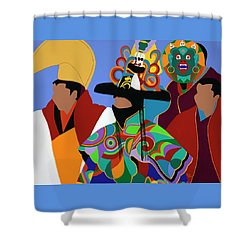 Tibetan Monks Cham Dancer Shower Curtain