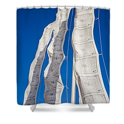 Tibetan Prayer Flags Shower Curtain by Perry Van Munster
