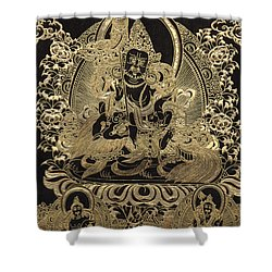 Tibetan Thangka - Vaishravana Shower Curtain