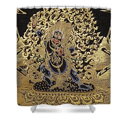 Tibetan Thangka - Vajrapani  Shower Curtain