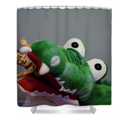 Tick Tock Crock Shower Curtain