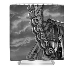 Shower Curtain featuring the photograph Tickets Bw by Laura Fasulo
