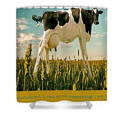Shower Curtain featuring the photograph Ticklish Cow by James Bethanis