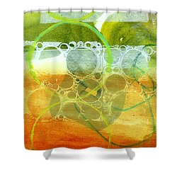 Tidal 13 Shower Curtain by Jane Davies