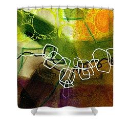 Tidal 18 Shower Curtain by Jane Davies
