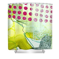 Tidal 19 Shower Curtain by Jane Davies