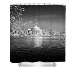Tidal Basin Jefferson Memorial Shower Curtain