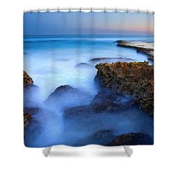 Tidal Bowl Boil Shower Curtain by Mike  Dawson