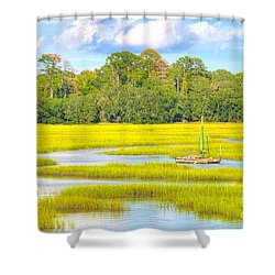 Tidal Castaway Shower Curtain