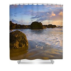 Tidal Flow Shower Curtain by Mike  Dawson