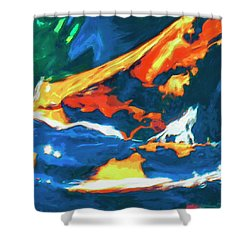Shower Curtain featuring the painting Tidal Forces by Dominic Piperata