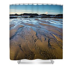 Tidal Patterns Shower Curtain