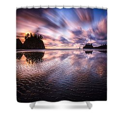 Tidal Reflection Serenity Shower Curtain
