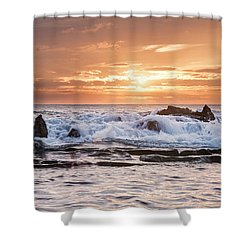 Tidal Sunset Shower Curtain by Heather Applegate