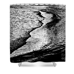 Tidal Wave Reaching For The Shoreline Shower Curtain by Carol F Austin