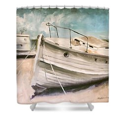 Tide Is Out Shower Curtain