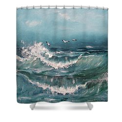 Tide Shower Curtain