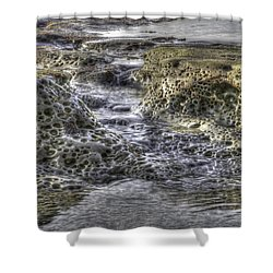 Tide Pool Waterfall Shower Curtain