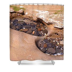 Shower Curtain featuring the photograph Tide Pools by Charles Robinson
