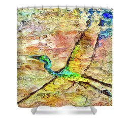 Tide Reflection Shower Curtain
