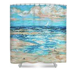 Tide Rising Shower Curtain by Linda Olsen