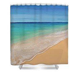Tide Washing In Shower Curtain