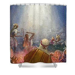 Tidings Of Great Joy Shower Curtain by John Millar Watt