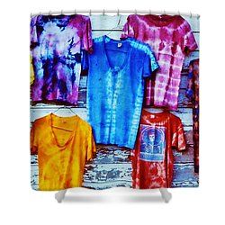 Shower Curtain featuring the photograph Grateful Dead Tie Dye by Susan Carella