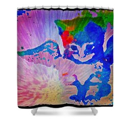 Tie Dye Tiger Shower Curtain